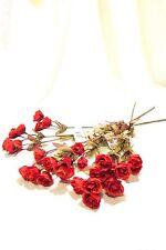 Mini Rose Spray Flowers Orange Rosa Lot of 3 Stems Crafters Wedding