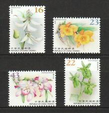 REP. OF CHINA TAIWAN 2018 WILD ORCHIDS FLOWERS SERIES II COMP. SET OF 4 STAMPS