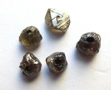 5+ Carats COGNAC Brown Natural Rough Diamond Beads
