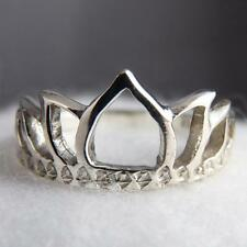 LOTUS CROWN Size US 8 (Q) SilverSari JALI Finger/Thumb Ring Solid 925 Stg Silver
