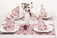 1 Tischläufer Liv in Bordeaux aus Linclass® Airlaid 40cmx4,80m - Tischband