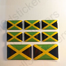 Sticker Jamaica Resin Domed Stickers Jamaica Flag 3D Vinyl Adhesive Decal Car