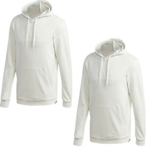 Adidas Mens Hoodies Hoody Brilliant Hoodie Sweatshirt Fleece Top Pocket White