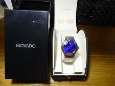 Movado Sports Edition Men's 84 G1 1892 Stainless Steel Watch with Blue Dial