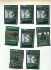 Star Wars CCG 8 WHITE BORDER cards from collectible card game
