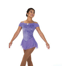 New Figure Skating Dress Jerry's  216 Shirred Lilac Size Adult Medium AM