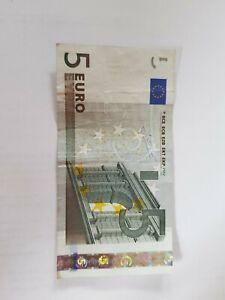 5 Euro schein, alte Serie, Sammlerstück mit besonderer Seriennummer