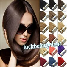 Seamless Tape in Skin Weft Remy Human Hair Extensions Straight Balayage Ombre 9A