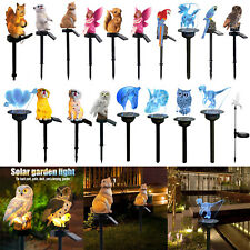 Solar Power LED Animals Lawn Light RGB Color Changing Outdoor Garden Decor Lamp