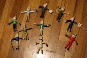"""Jack in the Box Restaurant Jack Bendable Figures lot of 10 Kids Meal Toys 4"""""""