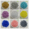 4 / 6 / 8mm Acrylic Round Pearl Spacer Loose Beads Jewelry Making DIY YG