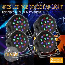 4 Pcs LED Par Stage Light 18x3W Mini Can Auto 54W DMX Par64 DJ Party KTV Club