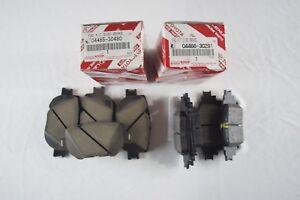 GENUINE LEXUS IS250 AWD FRONT & REAR BRAKE PADS 04465-30480 & 04466-30281 OEM