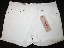 LEVIS MID LENGTH ROLLED  JEANS SHORTS NEW WITH TAG