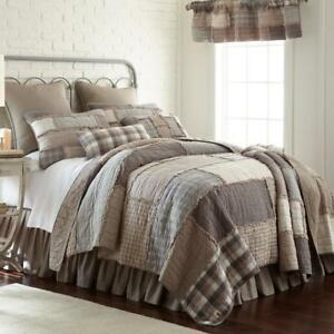 Donna Sharp Smoky Cobblestone *KING* Quilt Rag Quilted Country Rustic Farmhouse