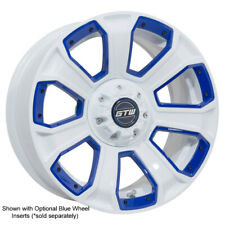Set of 4 - 14 inch Gtw Nemesis (White) Golf Cart Aluminum Wheels 14x7