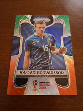 2018 Panini Prizm World Cup Jon Dadi Bodvarsson #106 Green and Orange Wave