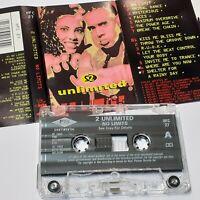 2UNLIMITED NO LIMITS 1993 CASSETTE TAPE ALBUM PWL 90S RAVE TECHNO DANCE POP