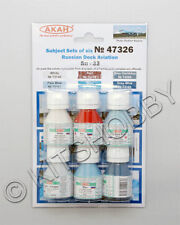 AKAN 47326 Paints Set For Su-33 Russian Navy current scheme (6 colors)