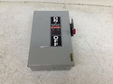 GE General Electric TG3221 30 Amp 240 V AC/DC 2 Pole Fusible Disconnect Switch