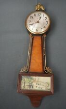"Antique Mt. Vernon with Eagle Sessions Banjo Electric Wall Clock 22"" x 7"""