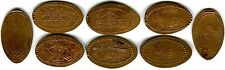 Legoland Florida Miniland USA Collection Of Eight All Copper Pressed Pennies