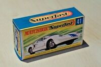 MATCHBOX SUPERFAST NO.41A FORD GT CAR CUSTOMISED REPLACEMENT DISPLAY BOX ONLY