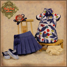 """HC0039A Ten Ping Summer outfit (skirt style) RUBY RED GALLERIA 8""""DOLL CLOTHES"""