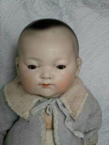 Antique Bisque Oriental AM Ellar Doll