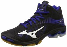 MIZUNO Volleyball Shoes Wave Lightning Z4 MID Black White Blue US8.5(26.5cm)