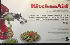 KitchenAid KSM2APC 7 Blade Spiralizer Attachment with Peel, Core and Slice NEW