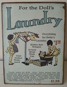 For The Dolls Laundry SIGN METAL WALL PLAQUE Retro Print poster Kitchen Advert