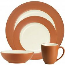 Noritake Colorwave Terra Cotta Rim 48Pc Dinnerware Set, Service for 12