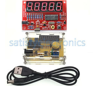 DIY Kits NEW 1Hz-50MHz Crystal Oscillator Tester Frequency Counter Meter w/Case