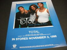 TOTAL Kima Keisha & Pam original November 3, 1998 PROMO POSTER AD mint condition