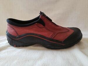 Clarks Muckers Waterproof Shoes Brown Leather Women's Size 8M #85209 Zipper