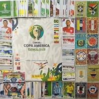 ALBUM  HARD COVER COPA AMERICA BRAZIL 2019   COMPLETE TO PASTE