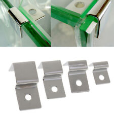 4PCS Stainless Clips Glass Cover Support Holder Aquarium   Tank 5/8/12/19mm
