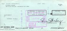 SUSAN STRASBERG CULT MOVIE ACTRESS IN PICNIC & THE TRIP SIGNED CHECK AUTOGRAPH