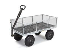 Lawn Carts and Wagons Utility With Wheels Lawn Garden Heavy Duty Platform 1000lb