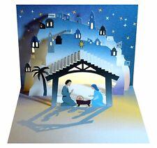 Corte láser tarjeta Pop Up-Navidad Natividad, el establo-POP108
