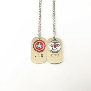 Captain America, Winter Soldier, Marvel, Avengers, Friendship Necklace