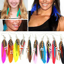 Unbranded Feather Alloy Hook Costume Earrings