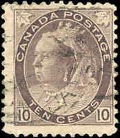 1898 Used Canada 10c F Scott #83 Queen Victoria Numeral Stamp