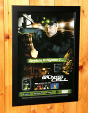 2002 Tom Clancy's Splinter Cell Small Poster / Ad Page Framed PS2 Xbox Gamecube.