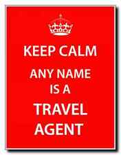 Agente de viajes Personalizada Keep Calm Jumbo Imán