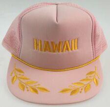 VTG Hawaiian Island Headwear Women's Trucker Hat Foam Mesh Baseball Cap Snapback