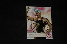 REBECCA SONI 2012 TOPPS USA OLYMPICS SIGNED AUTOGRAPHED CARD #26 SWIMMING