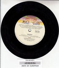"""KISS  Shandi 7"""" 45 rpm vinyl record + juke box title strip"""