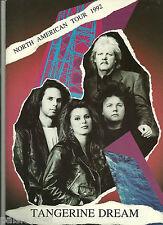 Tangerine Dream Concert Program 1992 The Rockoon Tour